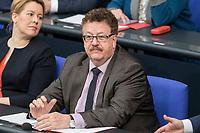 14 FEB 2019, BERLIN/GERMANY:<br /> Hans-Joachim Fuchtel, MdB, CDU, Parl. Staatssekretaer im Bundesministerium fuer Ernaehrung und Landwirtschaft, Bundestagsdebatte, Plenum, Deutscher Bundestag<br /> IMAGE: 20190214-01-033<br /> KEYWORDS: Bundestag, Debatte