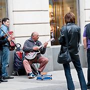 Busking musicians in old town of Vienna, Austria