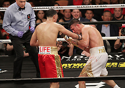 February 18, 2018 - Las Vegas, Nevada, United States of America - WBC Super Middleweight Champion David Benavidez dominates challenger Ronald Gavril  during their 12 round championship bout,earning a unamimous decision on February 17, 2018 at Mandalay Bay Events  Center in Las  Vegas, Nevada. (Credit Image: © Marcel Thomas via ZUMA Wire)