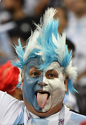 NIZHNY NOVGOROD, June 21, 2018  A fan of Argentina is seen prior to the 2018 FIFA World Cup Group D match between Argentina and Croatia in Nizhny Novgorod, Russia, June 21, 2018. (Credit Image: © Chen Yichen/Xinhua via ZUMA Wire)