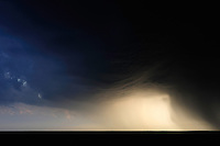 Mission: Saiga.Storm clouds over the steppe  of Cherniye Zemly (Black Earth) Nature Reserve, Kalmykia, Russia, May 2009.Saiga tatarica