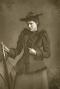 'Lily Hanbury (1874-1908) born Lily Alcock, c1890, English actress with a wide repertoire.  Under the management of Wilson Barrett and Beerbohm Tree she gained popularity in various Shakesperean roles.'