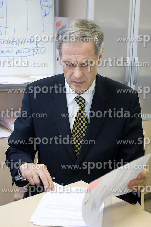 Dusan Prezelj when Slovenian athletes and their coaches sign contracts with Athletic federation of Slovenia for year 2009,  in AZS, Ljubljana, Slovenia, on March 2, 2009. (Photo by Vid Ponikvar / Sportida)