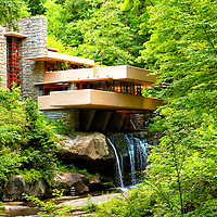 """""""Dreaming of Fallingwater""""<br /> <br /> Beautiful and historic Fallingwater during summer!"""