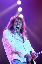 David Coverdale and Whitesnake Headline at Monsters Of Rock Hallam at FM Arena Sheffield<br /> David Coverdale (born 22 September 1951) is an English rock singer most famous for his work with Whitesnake, the commercially successful hard rock band he founded in 1978. Before Whitesnake, Coverdale was the lead singer of Deep Purple from late 1973 to 15 March 1976, when he resigned from the band and established his solo career<br /> <br /> Image Copyright Paul David Drabble<br /> 21 May 2003