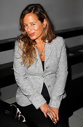 March 4, 2014 - Paris, France - Mother-to-be JADE JAGGER hides her bump wearing a tailored jacket at the Agnes B. show during the Fall/Winter 2014 Paris Fashion Week at the Palais de Tokyo. (Credit Image: © Steph/Haedrich/Visual/ZUMAPRESS.com)