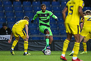 Forest Green Rovers Reuben Reid(26) on the ball during the The FA Cup 1st round match between Oxford United and Forest Green Rovers at the Kassam Stadium, Oxford, England on 10 November 2018.