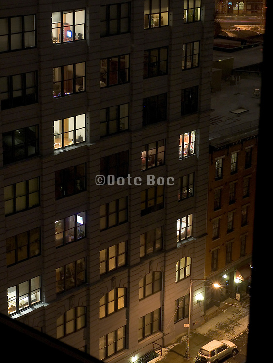night street scene Brooklyn NY