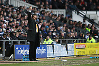Photo: Pete Lorence.<br />Derby County v Hull City. Coca Cola Championship. 10/02/2007.<br />Hull manager, Phil Brown, salutes his squad's supporters.