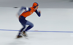 February 12, 2018 - Gangneung, South Korea - Marrit Leenstra of the Netherlands starts the Women's 1500M Speed Skating at the PyeongChang 2018 Winter Olympic Games at Gangneung Oval on Monday February 12, 2018. (Credit Image: © Paul Kitagaki Jr. via ZUMA Wire)