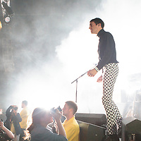 The crowd go wild as Miles Kane takes to the stage performing live at Manchester Academy, Manchester, UK, 2013-09-28