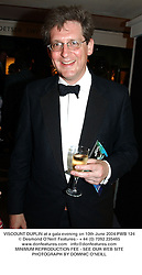 VISCOUNT DUPLIN at a gala evening on 10th June 2004.PWB 124