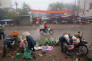 Village near the international Airport in Hanoi, Vietnam. Market across from Avi Airport Hotel.