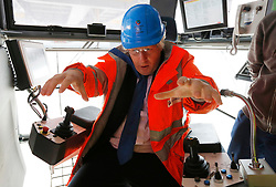 Filep hoto dated 30/07/13 of Boris Johnson on a visit to DP World London Gateway in Essex during his tenure as Mayor of London. Mr Johnson has been elected by Conservative party members as the new party leader, and will become the next Prime Minister of the United Kingdom.