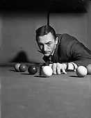 1952 - Sean Jordan at Billiard Saloon, possibly on Abbey Street