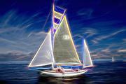 Old Gaffer Sailing on the solent