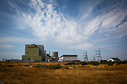 Dungeness Nuclear Power Station, Kent, United Kingdom. This is a twin reactor plant located on the headlands overlooking a nature reserve and Site of Special Scientific Interest.