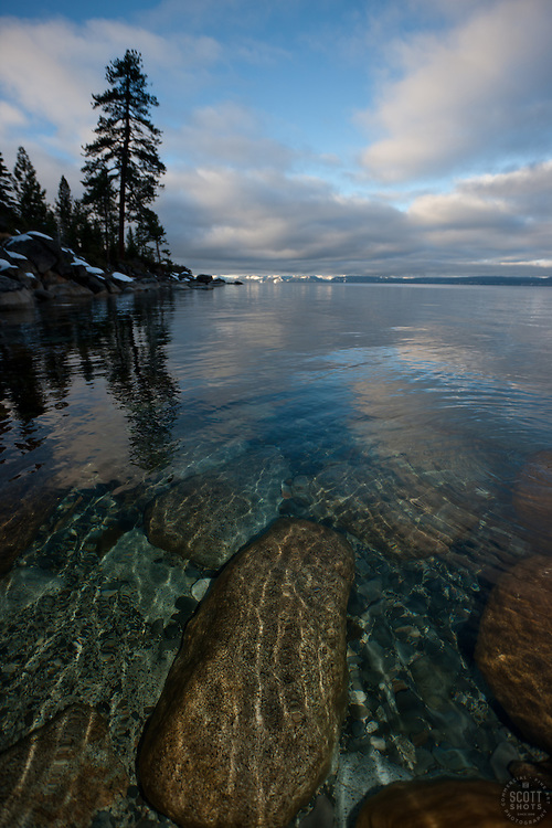 """""""Boulders at Lake Tahoe 29"""" - These boulders under the water were photographed in the morning near Memorial Point, Lake Tahoe."""