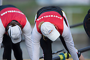 Amsterdam. NETHERLANDS. GER W8+. push off from the boating pontoon at the 2014 FISA  World Rowing. Championships.  De Bosbaan Rowing Course . 07:20:30  Thursday  21/08/2014  [Mandatory Credit; Peter Spurrier/Intersport-images]