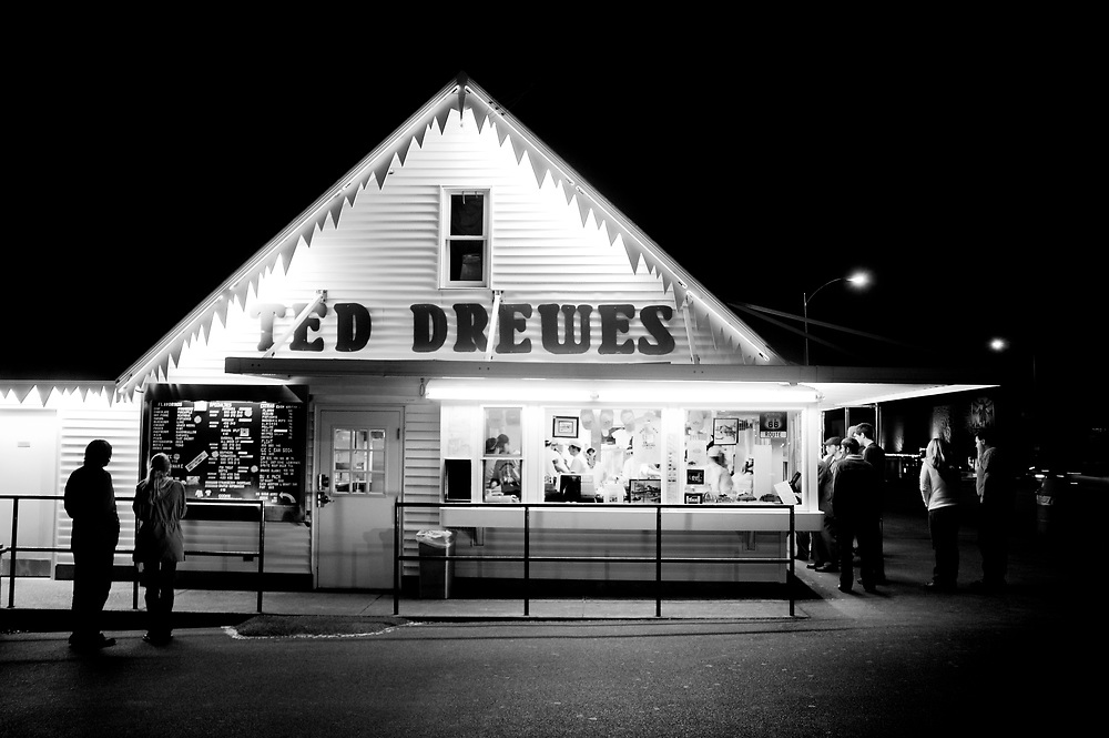 """Ted Drewes Frozen Custard in St. Louis, Missouri, famous for their """"Concrete""""."""