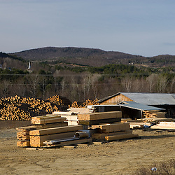 A lumber mill in Littleton, New Hampshire.