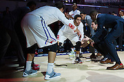 DALLAS, TX - DECEMBER 17: Nic Moore #11 of the SMU Mustangs is introduced before tipoff against the Hampton Pirates on December 17, 2015 at Moody Coliseum in Dallas, Texas.  (Photo by Cooper Neill/Getty Images) *** Local Caption *** Nic Moore