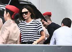 AU_1375484 - *EXCLUSIVE* Sydney, AUSTRALIA  -    David and Victoria Beckham and family arrive in Australia.<br /> <br /> Pictured: David and Victoria Beckham and family arrive in Sydney<br /> <br /> BACKGRID Australia 21 OCTOBER 2018 <br /> <br /> Phone: + 61 2 8719 0598<br /> Email:  photos@backgrid.com.au