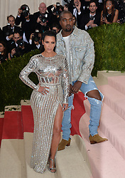 File photo dated May 2, 2016 of Kim Kardashian and Kanye West attend the Manus x Machina: Fashion in an Age of Technology Costume Institute Benefit Gala at Metropolitan Museum of Art in New York City, NY, USA. US rapper Kanye West took to Twitter over the weekend to announce he was running for president, with his declaration quickly going viral and prompting a flurry of speculation. His wife Kim Kardashian West and entrepreneur Elon Musk endorsed him. Photo by Lionel Hahn/ABACAPRESS.COM