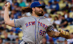 June 20, 2017 - Los Angeles, California, U.S. - New York Mets starting pitcher Robert Gsellman throws toward the plate against the Los Angeles Dodgers in the first inning of a Major League baseball game at Dodger Stadium on Tuesday, June 20, 2017 in Los Angeles. (Photo by Keith Birmingham, Pasadena Star-News/SCNG) (Credit Image: © San Gabriel Valley Tribune via ZUMA Wire)