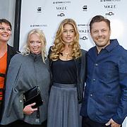 NLD/Staverden/20121004- Fotomodel Doutzen Kroes opent de 1e G-Star Women Store in Amsterdam, met Hilmar Mulder en Remco