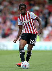 Brentford's Romaine Sawyers in action
