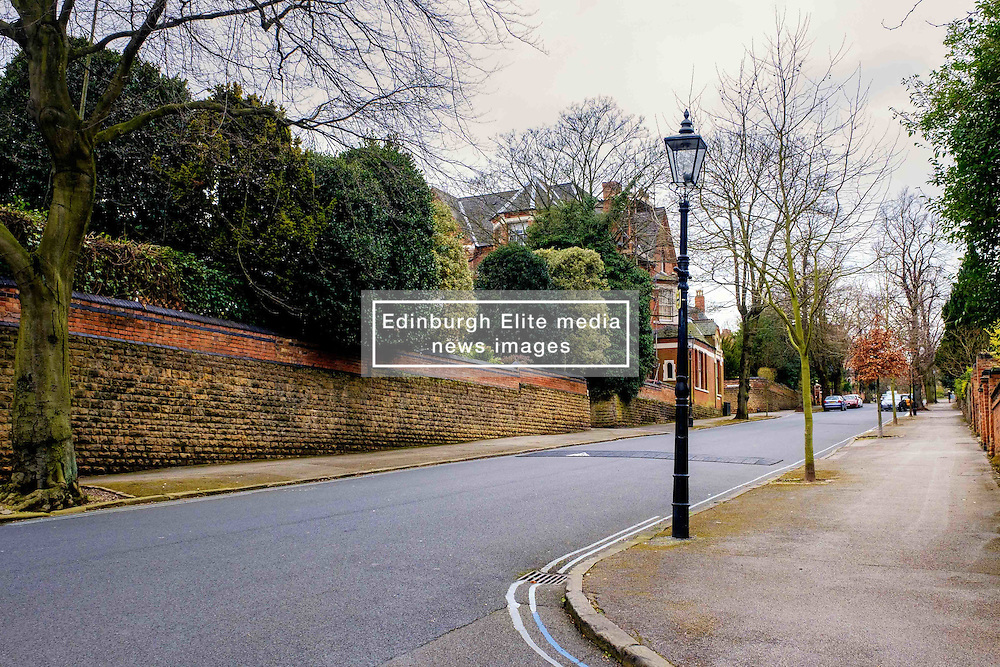 A cast iron street light with a gas lantern in Park Drive in Nottingham's Park Estate. This is the largest surviving gas lit area in Europe.<br /> <br /> (c) Andrew Wilson | Edinburgh Elite media