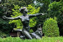 Rose Garden sculpture in Gesundbrunnen Park in Berlin, Germany
