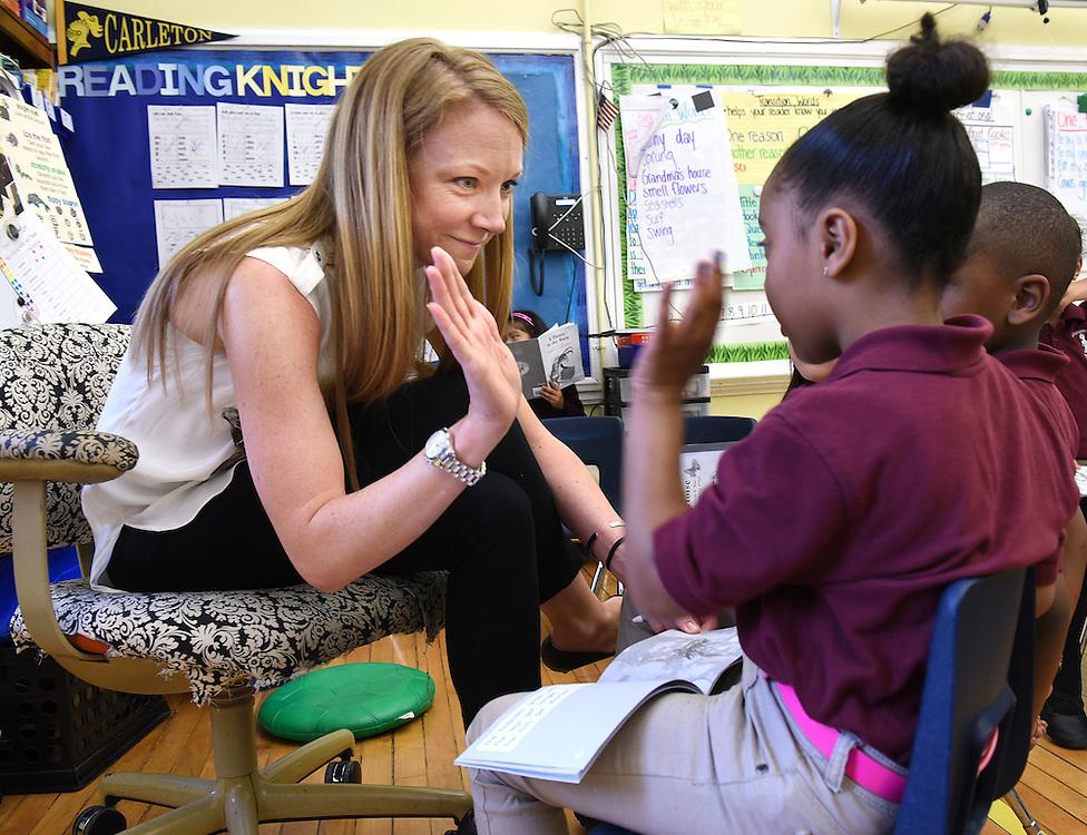 Photo by Mara Lavitt<br /> May 6, 2015<br /> Achievement First Bridgeport Academy Elementary master teacher Amy Norback .