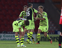 Yeovil Town's Byron Webster celebrates his goal - Photo mandatory by-line: Matt Bunn/JMP - Tel: Mobile: 07966 386802 22/11/2013 - SPORT - Football - Doncaster - Keepmoat Stadium - Doncaster Rovers v Yeovil Town - Sky Bet Championship