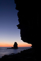 Seascape, Pedra da Agulha (Needle rock), Arrifana coast, Southwest Alentejo and Vicentine Coast Natural Park, Portugal.
