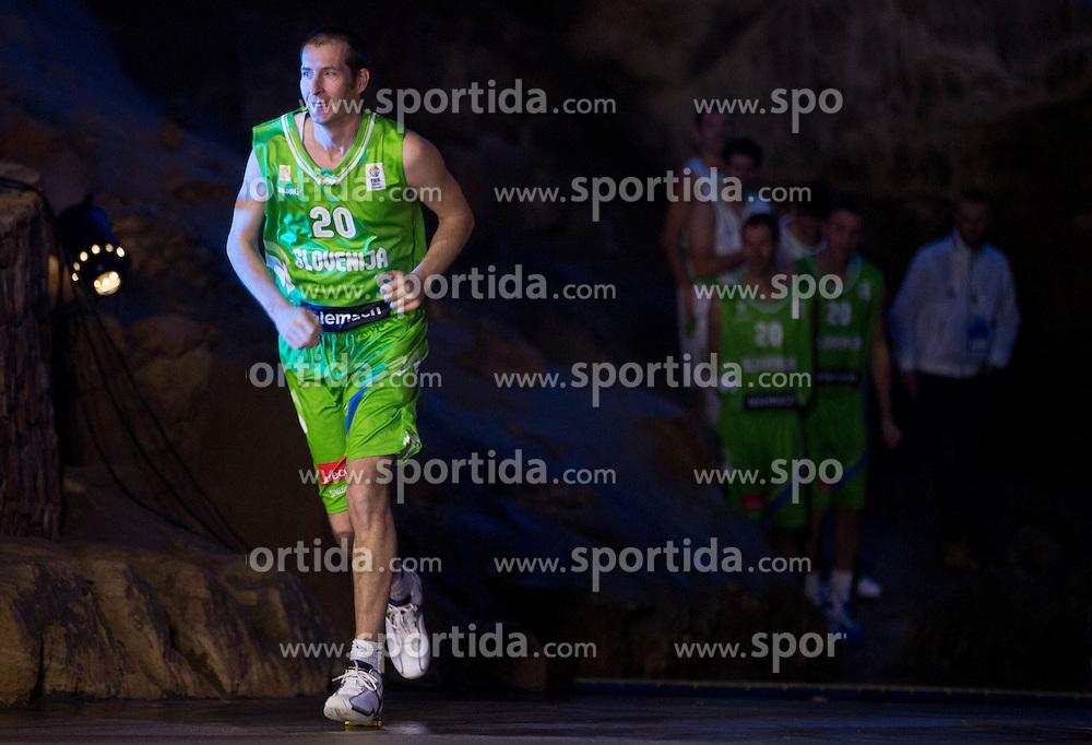 Jaka Daneu during FIBA Europe Eurobasket 2013 draw ceremony on November 18, 2012 in Postojna cave, Postojna, Slovenia. (Photo By Vid Ponikvar / Sportida)