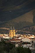 Town of Orgiva in Spain