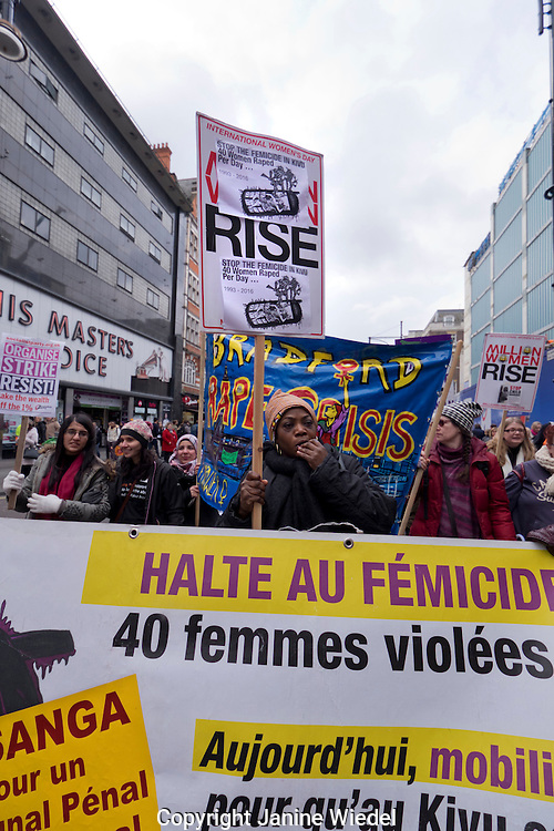 A Million Women Rise!  Together we can end male violence! A protest and International March and rally of women and girls against male violence.