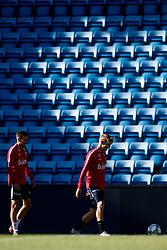 September 3, 2018 - Oslo, NORWAY - 180903 Martin Linnes and Martin Ødegaard of Norway during a training session on September 3, 2018 in Oslo..Photo: Jon Olav Nesvold / BILDBYRÃ…N / kod JE / 160302 (Credit Image: © Jon Olav Nesvold/Bildbyran via ZUMA Press)