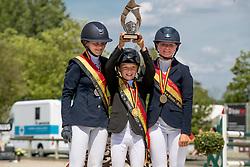 Podium Ponies, Wouters Seppe, Rotsaert Aliki, Sercu Alione <br /> Belgisch Kampioenschap - Azelhof 2019<br /> © Hippo Foto - Dirk Caremans<br /> Podium Ponies, Wouters Seppe, Rotsaert Aliki, Sercu Alione