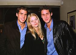 Left to right, MR ANTHONY DE ROTHSCHILD, MISS JEMMA KIDD and MR DAVID DE ROTHSCHILD at a dinner in London on 29th September 1998.MKK 31