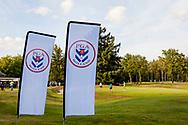 01-09-2016 Golffoto's van het Nationaal Open op de Hilversumsche Golf Club in Hilversum. finale.  PGA Holland vlaggen