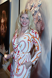 Meredith Ostrom at the launch of the new JD Malat Gallery, 30 Davies Street, London, England. 05 June 2018.