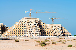 New residential apartment buildings under construction on Al Marjan Island in Ras al Khaimah United Arab emirates UAE