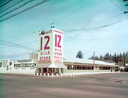 "Ackroyd-C00105-1 ""Zimmerman's 12 Mile Store. July 22, 1955"" (corner of 223rd Avenue and Stark St., now the Weston Kia car dealership)"