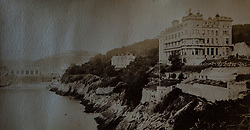 The Imperial Hotel in Torquay photographed in 1872 in a book of old photographs to be auctioned at Bonhams. Bonhams, Knightsbridge, London, November 23 2018.
