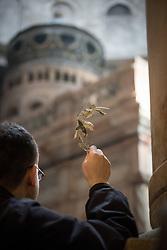 14 April 2019, Jerusalem: Palm Sunday service at the Church of the Holy Sepulchre, in the Old City of Jerusalem.