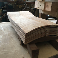 stack of backs chair making, jigs, patterns, molds