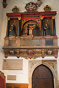 The memorial to Sir james Deane in St Olaves Church on the corner of Seething Lane in the City of London, on 30th May 2018, in London, England.